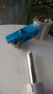 Ruderarm/Hydraulikzylinder