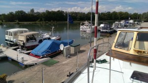 Aussicht auf Hafen