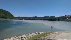 Zusammenfluss Donau / Inn