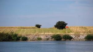 Ufer abgebrochen