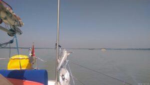 Slowakische Donau sehr breit