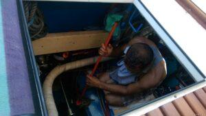 mit Benzin Reinigung