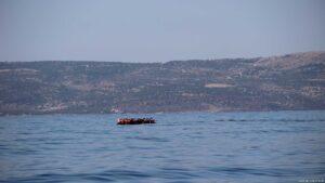 Flüchtlingsboot Nummer 11 bei Lesbos