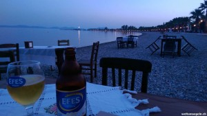 Abendessen am Meer